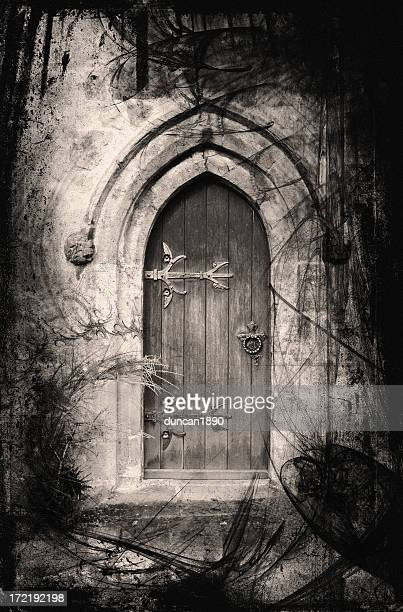 fantasy doorway - gothic style stock illustrations, clip art, cartoons, & icons