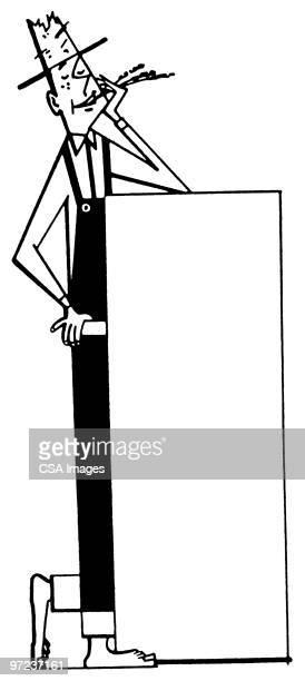 farmer - tall high stock illustrations