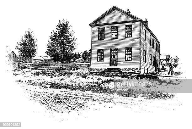 farmhouse - farmhouse stock illustrations