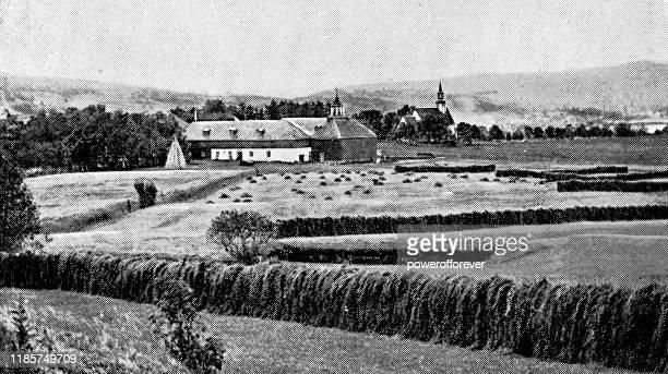 ノルウェー・ジョルスターの農地 - 19世紀 - ヨーロッパ文化点のイラスト素材/クリップアート素材/マンガ素材/アイコン素材