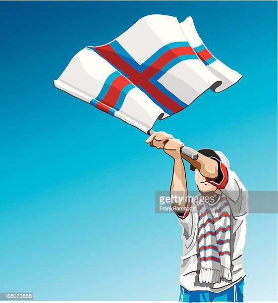Faroe Islands Waving Flag Soccer Fan