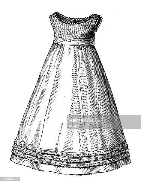 Fashion clothes and hairstyle models from the 1800s