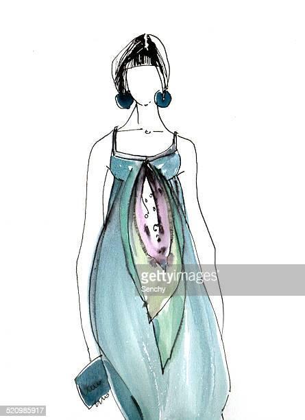 illustrations, cliparts, dessins animés et icônes de fashion illustration - jeunes femmes
