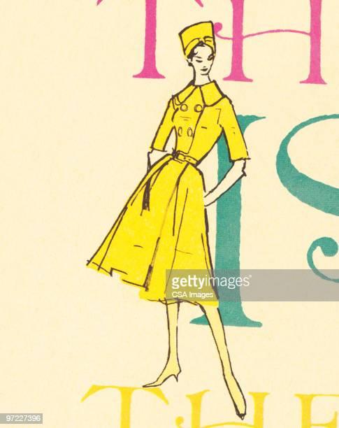 fashion model - 20世紀点のイラスト素材/クリップアート素材/マンガ素材/アイコン素材