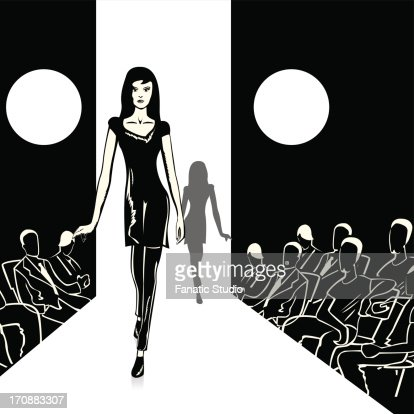 fashion models walking on the ramp high res vector graphic getty images fashion models walking on the ramp high res vector graphic getty images