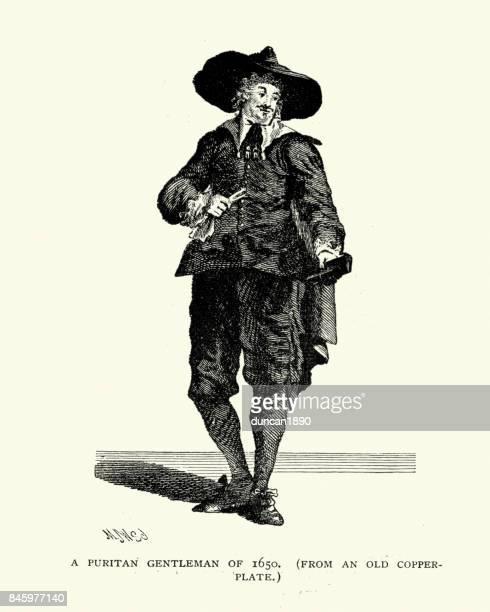 Fashion of a Puritan Gentleman of mid 17th Century