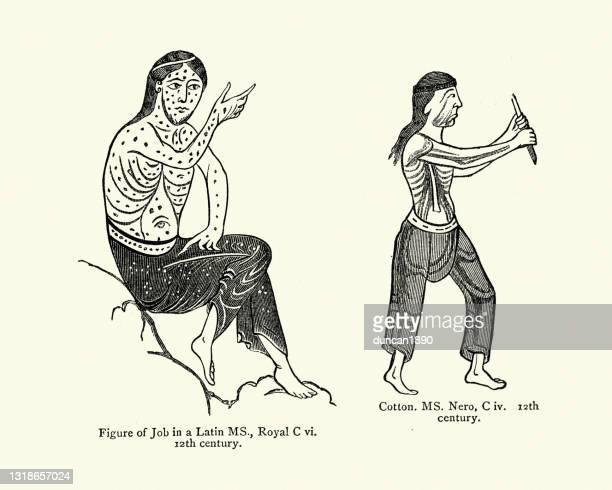 illustrations, cliparts, dessins animés et icônes de mode du 12ème siècle hommes à poitrine nue portant des pantalons - chest barechested bare chested