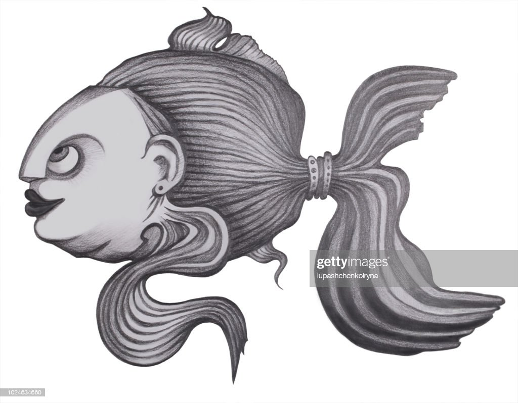 Black and White fish clip art / line art by Holly Brooke Jones | TpT