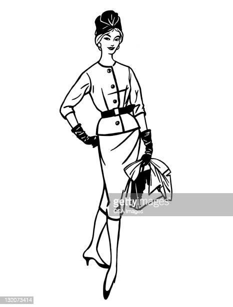 Moda mujer posando