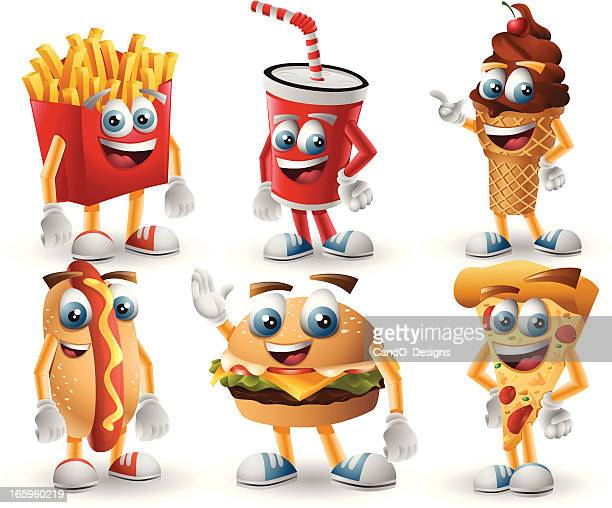 Fast Food Characters: 6 in 1