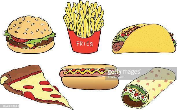 fast food - ketchup stock illustrations, clip art, cartoons, & icons