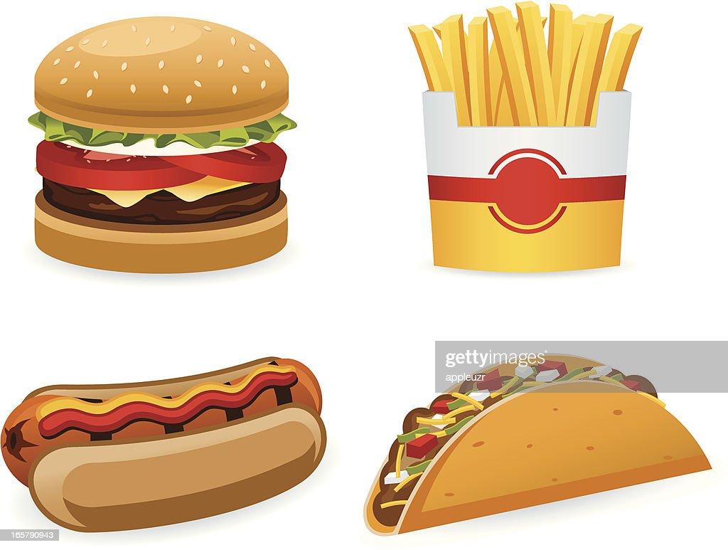 Fast Food : stock illustration