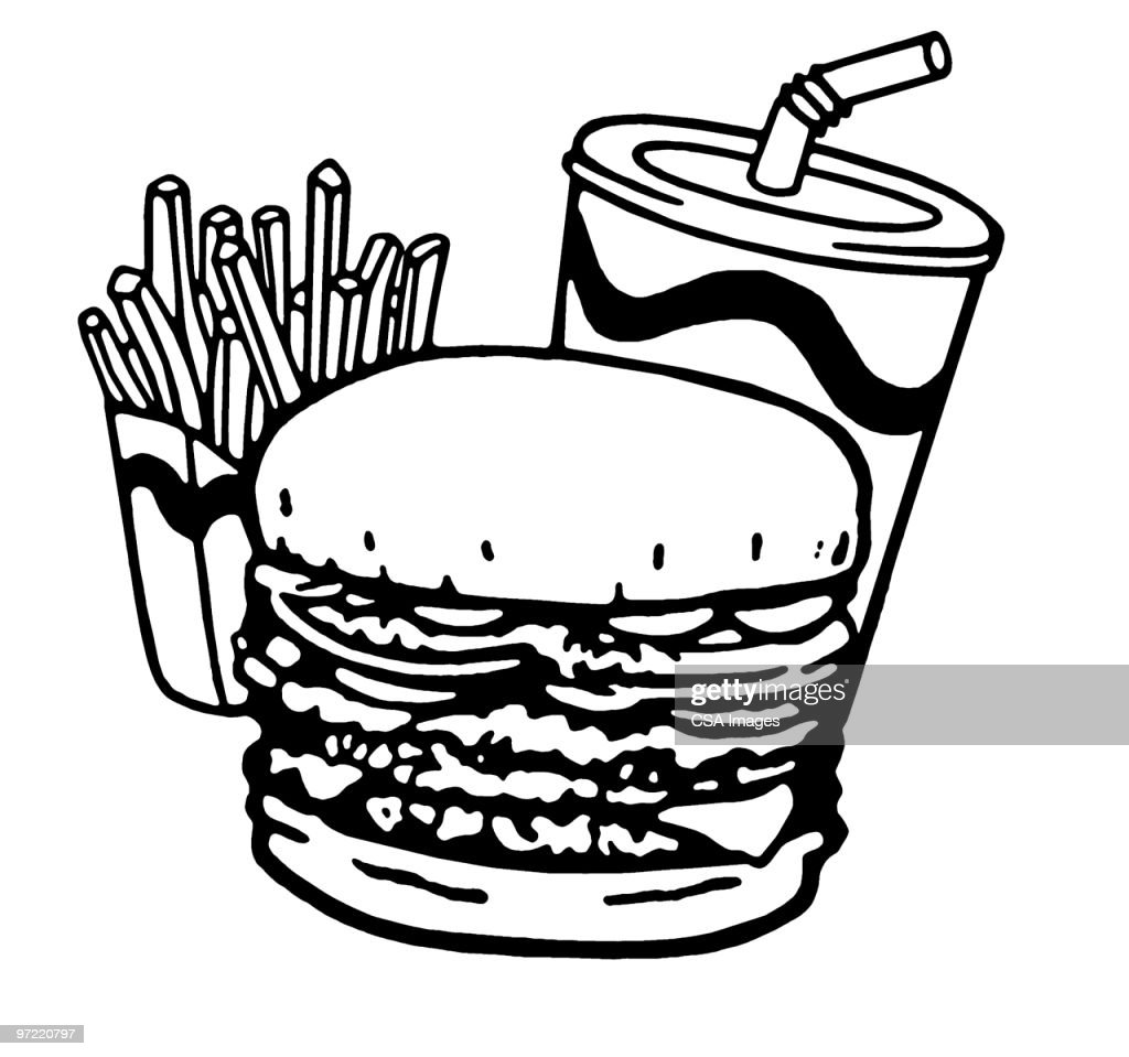Fast Food Meal : stock illustration