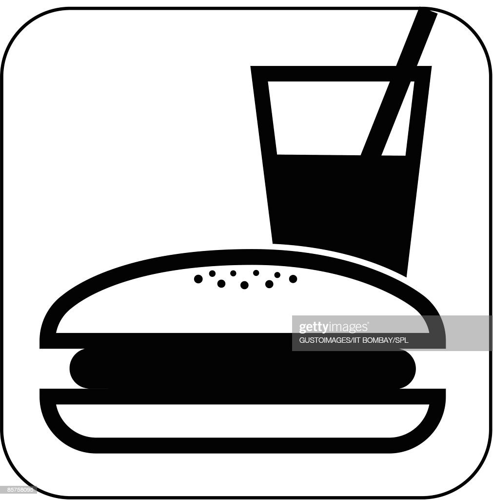 Fast Food Symbol Against White Background Stock Illustration Getty