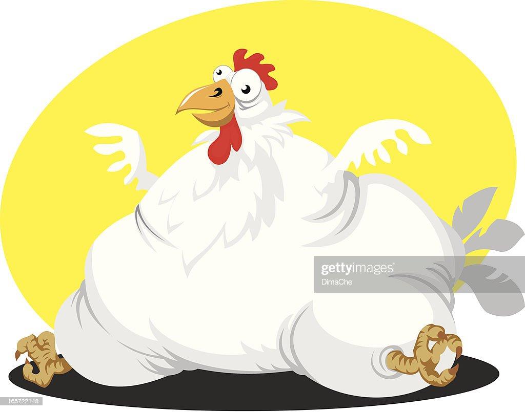 fat chicken vector art getty images
