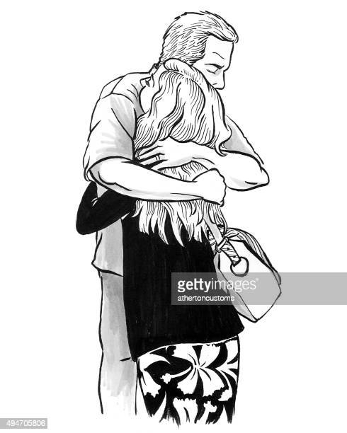 Father daughter embrace
