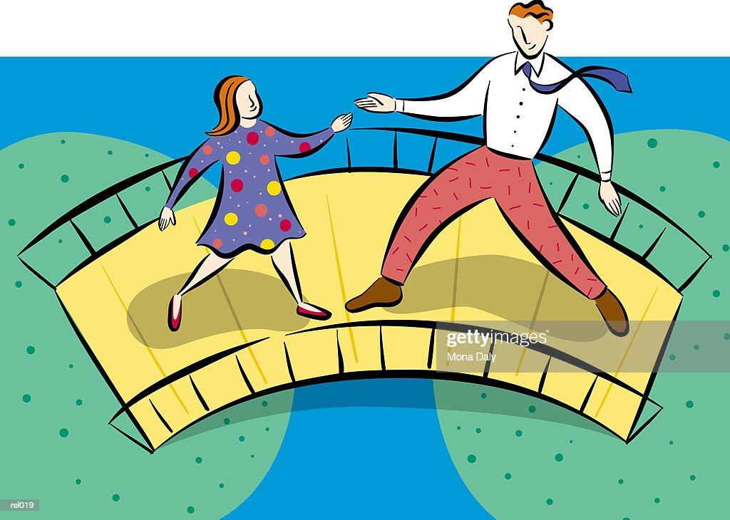 Father & Daughter Meeting : Ilustração de stock