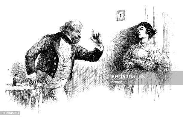 Father reprimanding his daughter