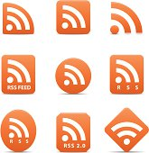 RSS feed icons set