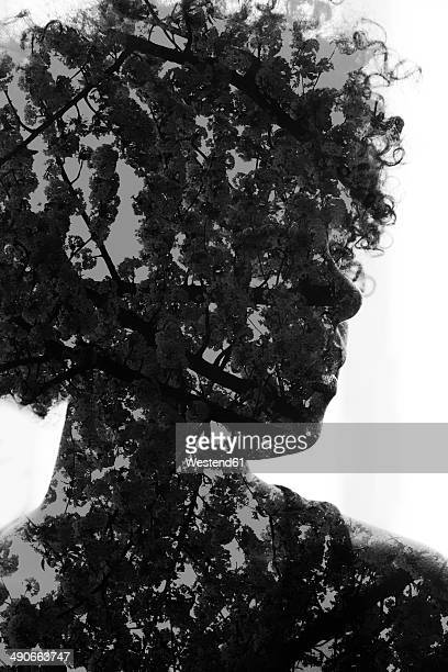 female afro-american, 3d rendering - headshot stock illustrations