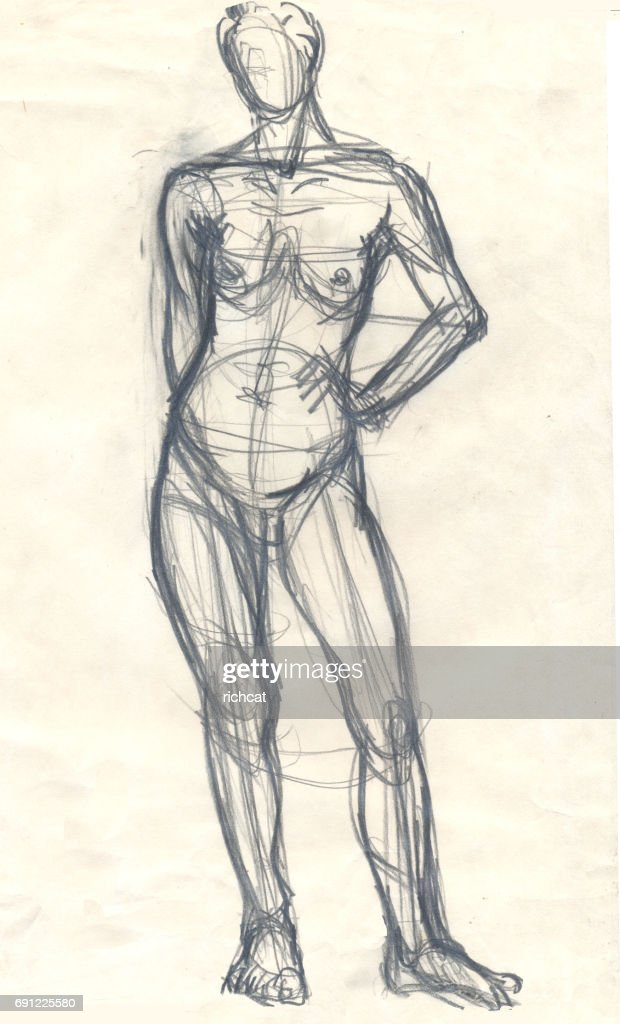 Female Body Sketch Stock Illustration Getty Images