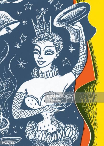 female dancer - en búsqueda stock illustrations