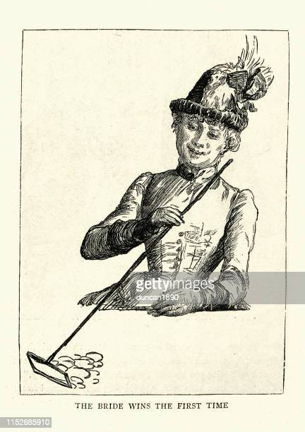female gambler raking in her winnings, monte carlo casino, 1886 - monte carlo stock illustrations, clip art, cartoons, & icons