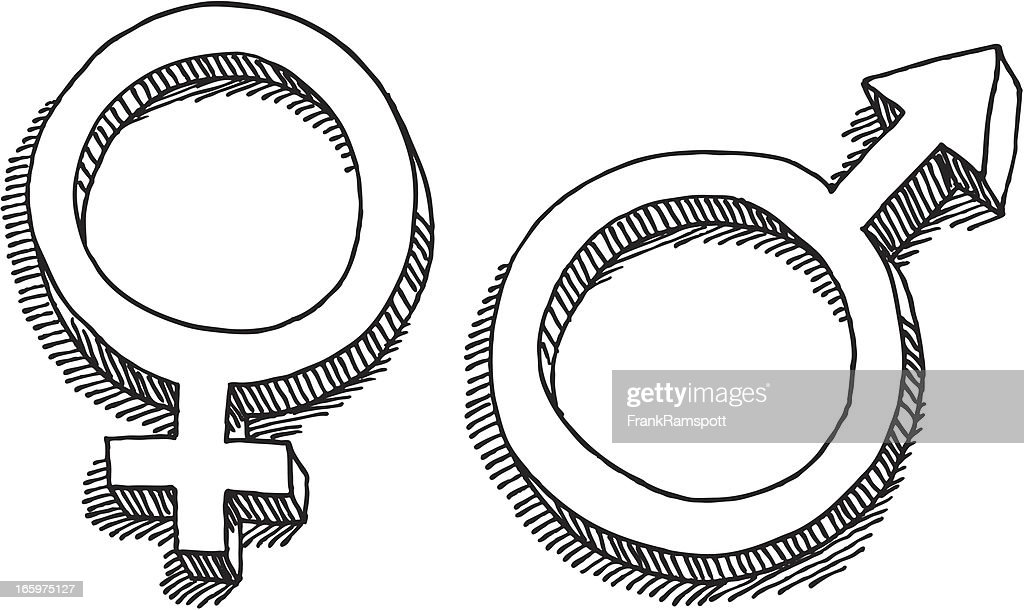 Female Male Gender Symbol Drawing Vector Art Getty Images