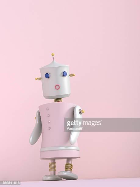 Female robot, 3D rendering