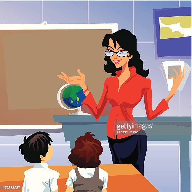 Female teacher in a classroom