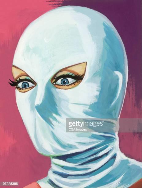 femme fatale - hood clothing stock illustrations