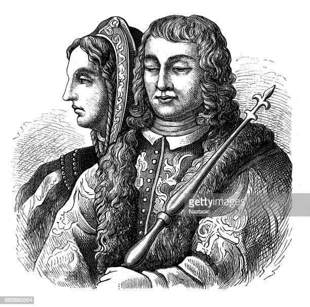 ferdinand ii and isabella - iberian peninsula stock illustrations, clip art, cartoons, & icons