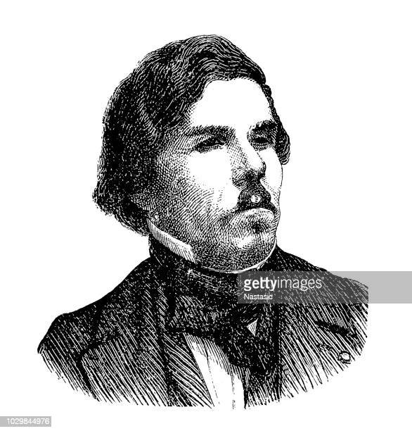 ferdinand victor eugène delacroix (26 april 1798 – 13 august 1863) was a french romantic artist regarded from the outset of his career as the leader of the french romantic school - franc sign stock illustrations, clip art, cartoons, & icons