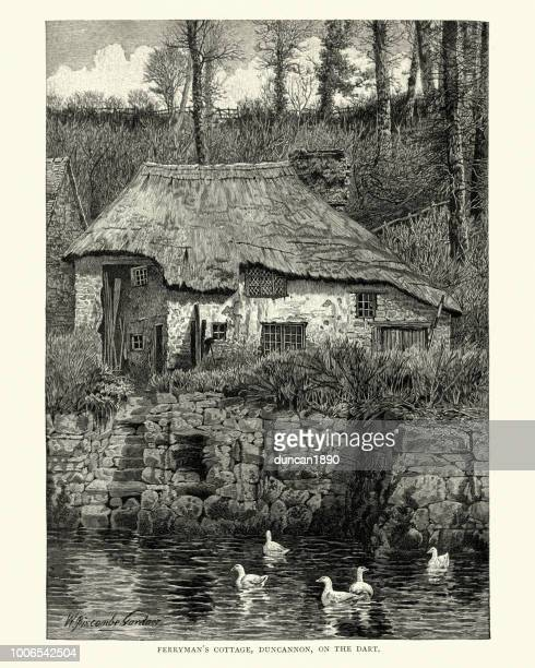 Ferryman's cottage on River Dart, Duncannon, Devon, 19th Cenutry