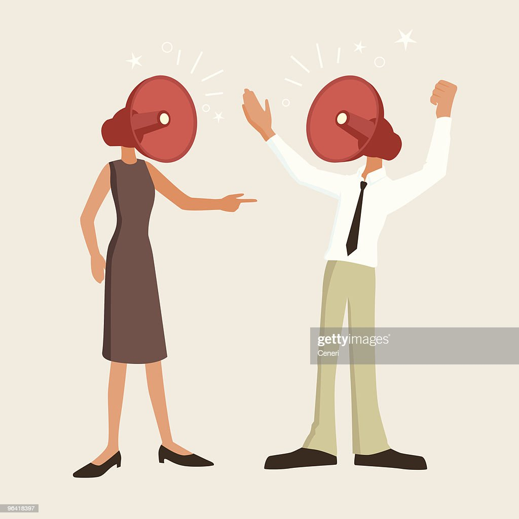 Fierce argument between man and woman