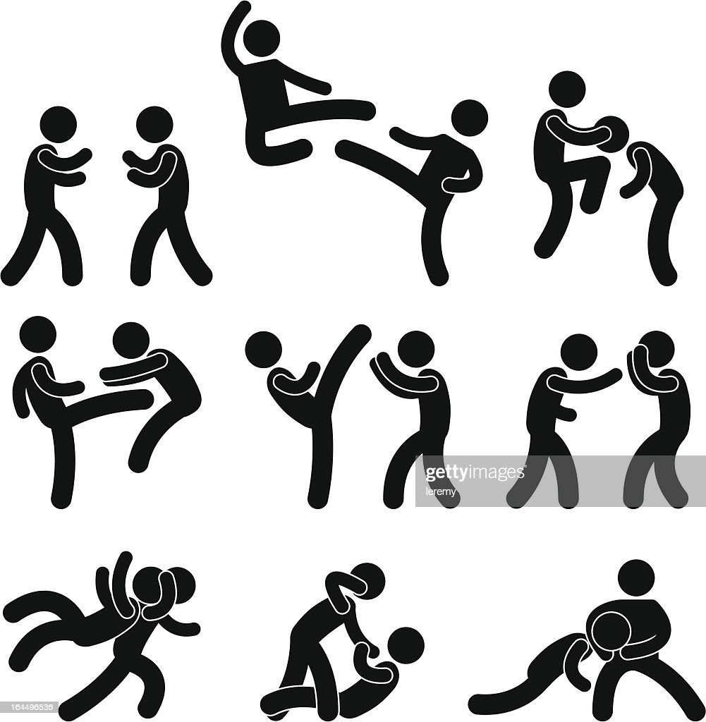 Fighting and Martial Arts Pictogram