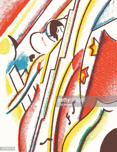 figure abstraction - embracing stock illustrations