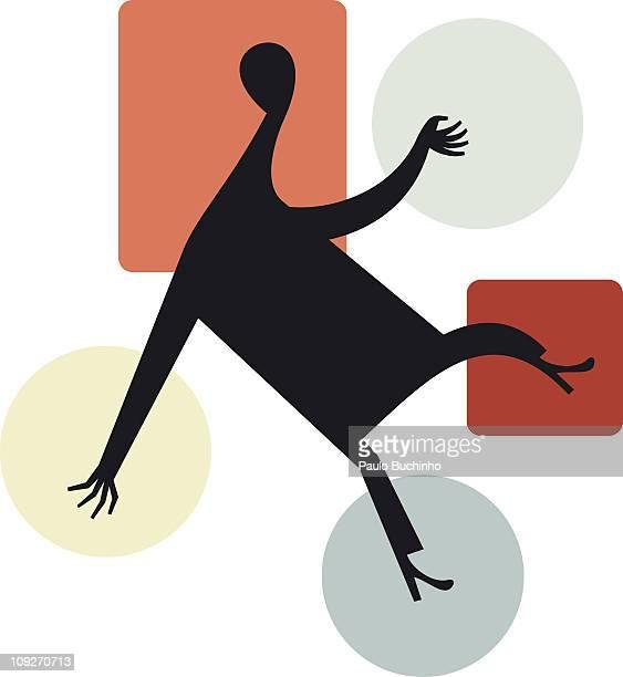 ilustrações de stock, clip art, desenhos animados e ícones de a figure surrounded by shapes - buchinho