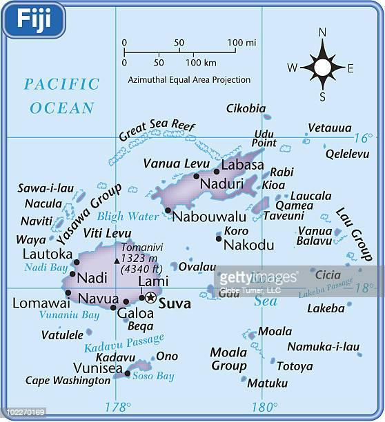 Fiji country map