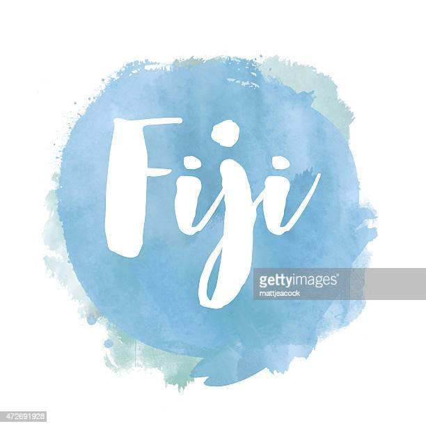 Fiji watercolour background