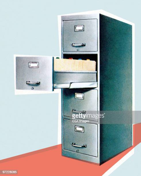 file cabinet - filing cabinet stock illustrations