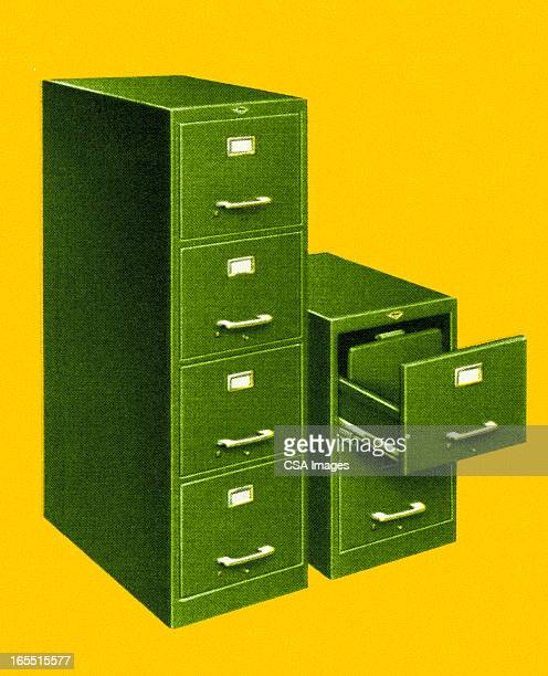 file cabinets - filing cabinet stock illustrations, clip art, cartoons, & icons