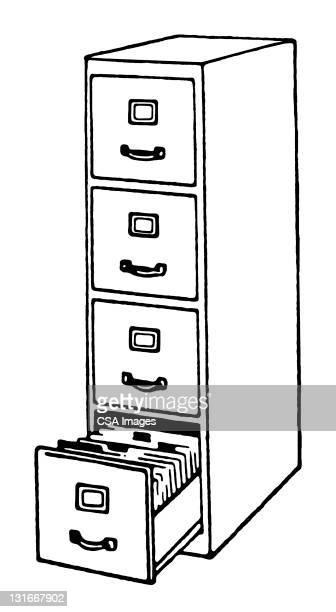 filing cabinet - filing cabinet stock illustrations