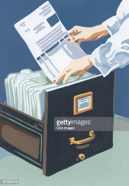 filing - paperwork stock illustrations