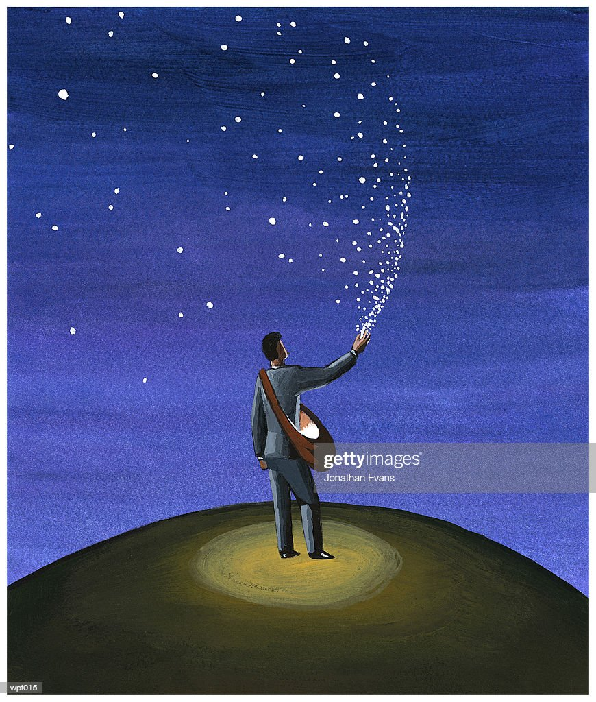 Filling the Sky with Stars : Stock Illustration