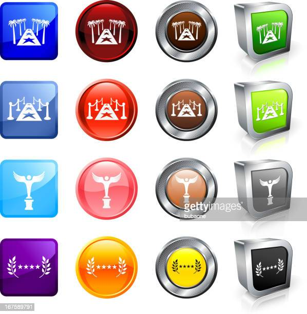 Film Industry royalty free vector button set
