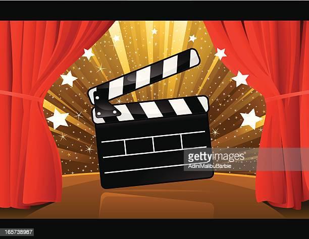 illustrazioni stock, clip art, cartoni animati e icone di tendenza di prima cinematografica - prima cinematografica
