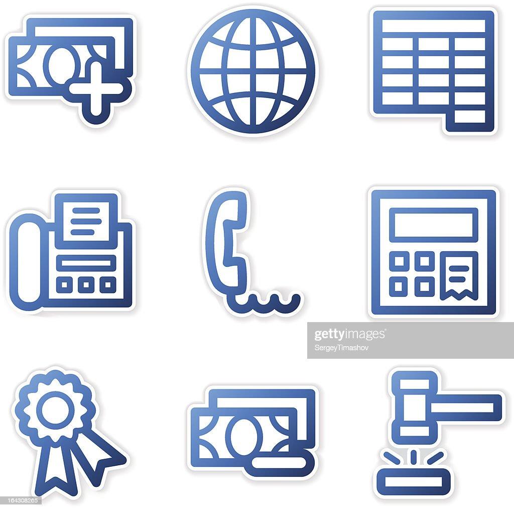 Finance icons 2, blue contour series