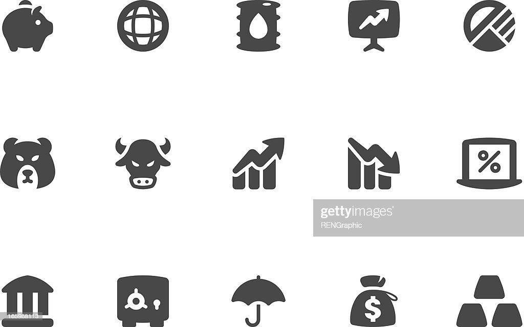 Finance & Investment Icon Set | Coal Series