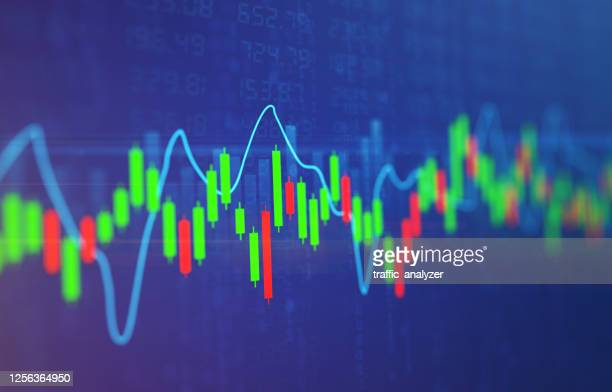 financial background - stock exchange - candlestick holder stock illustrations